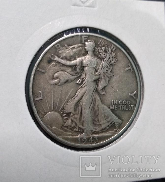 Пол доллара (50 центов) 1943 год