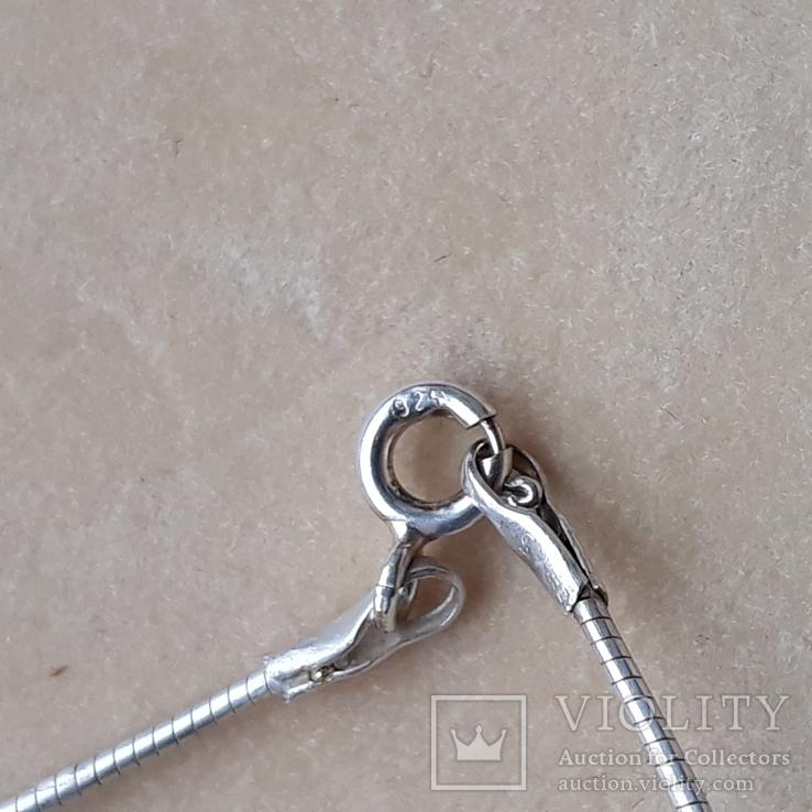 Серебряное колье с перламутром, фото №10