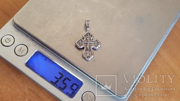Крестик нательный. Серебро 925 проба., фото №2