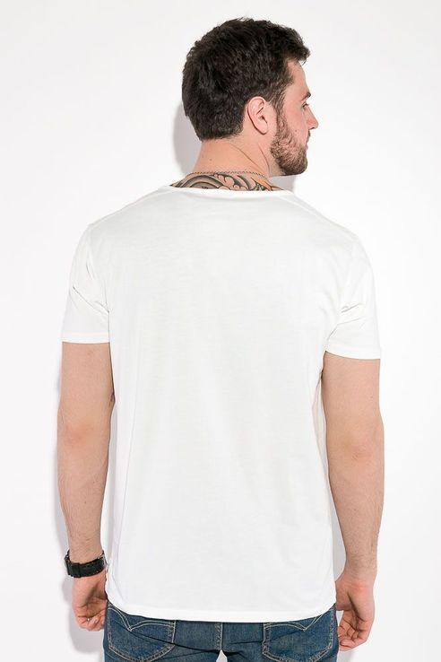 Футболка мужская однотонная, с карманом на груди, фото №9