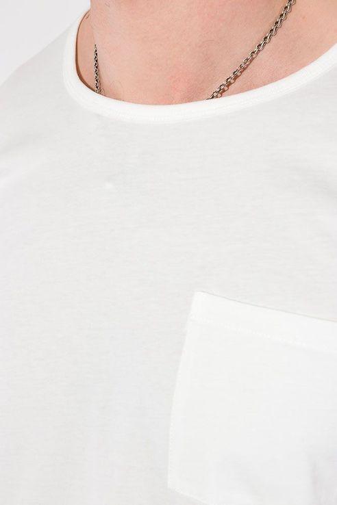 Футболка мужская однотонная, с карманом на груди, фото №10