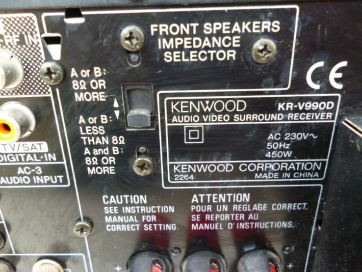Підсилювач - Ресівер KENWOOD KR-V990D з Німеччини, фото №11