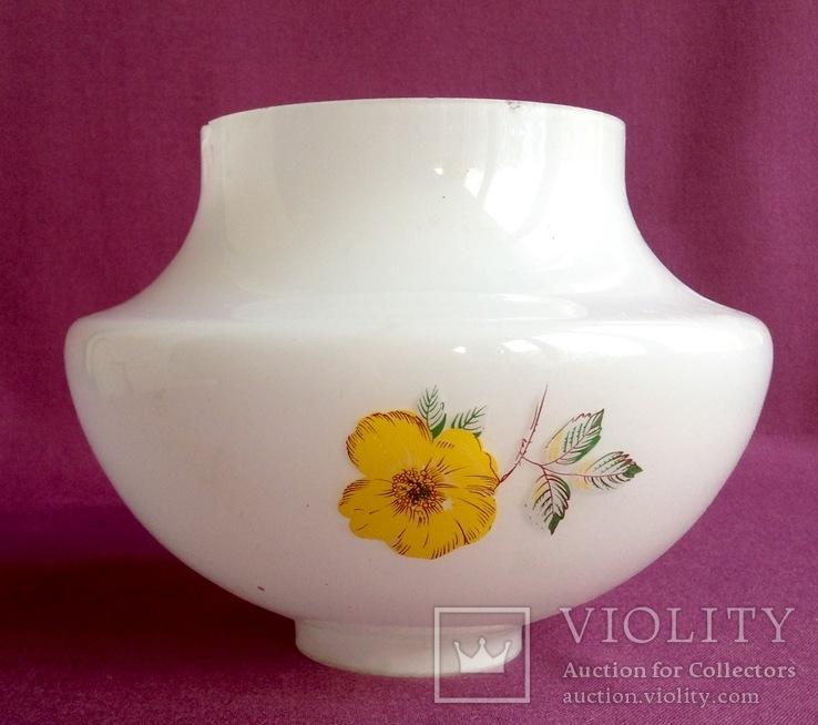 Плафон для торшера и ламп Цветок. Двойное белое молочное стекло., фото №11