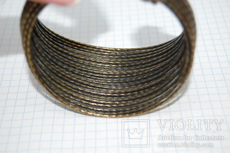 Широкий жесткий браслет с маркировкой MNG (Mango), фото №11
