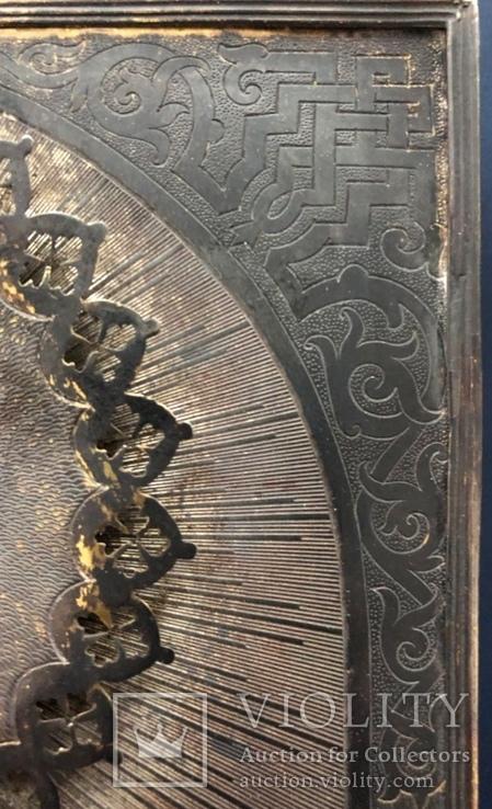 Икона Спас, оклад 84, позолота, съёмная рама, фото №4