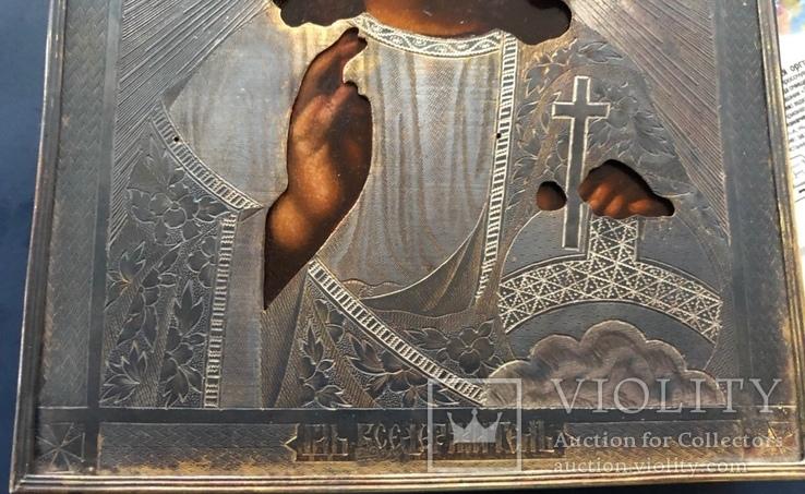 Икона Спас, оклад 84, позолота, съёмная рама, фото №8