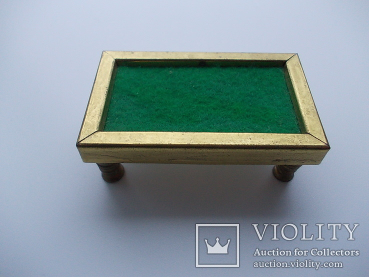 Коллекционная миниатюра Бильярд. Латунь. Германия., фото №2