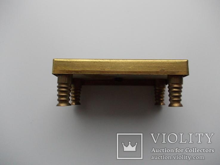 Коллекционная миниатюра Бильярд. Латунь. Германия., фото №3