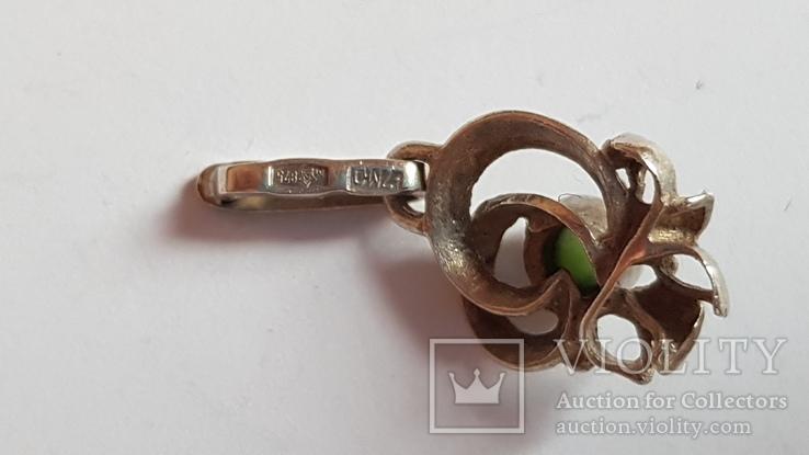 Подвес советский, серебро 875 проба., фото №7