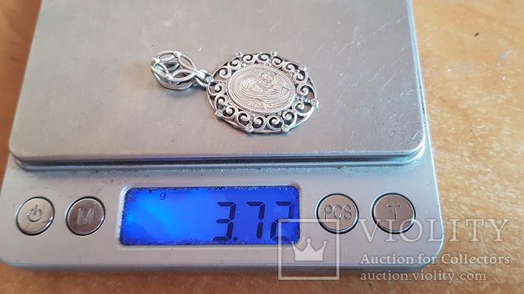 Иконка нательная. Серебро 925 проба. Вес 3.70 г., фото №9