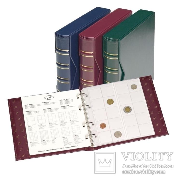 Альбом для монет или банкнот Leuchtturm, Numis, c футляром, без листов, красный. 312262