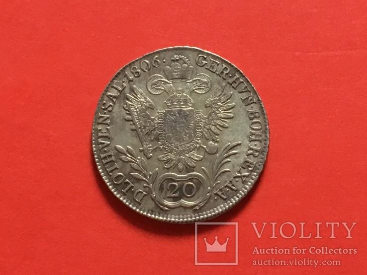 20 крейцерів 1806 А Франц 2, фото №3