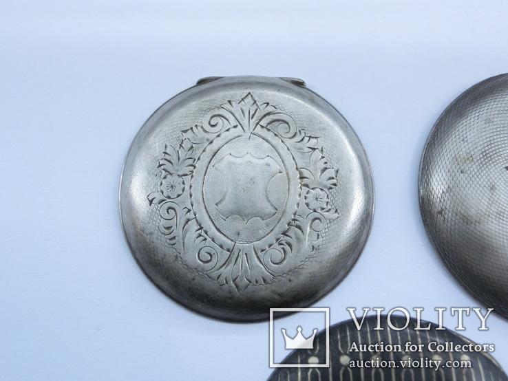 Задние крышки к Карманным часам. Серебро, фото №3
