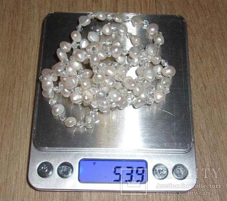 Нитка жемчуга, 118 см., фото №13