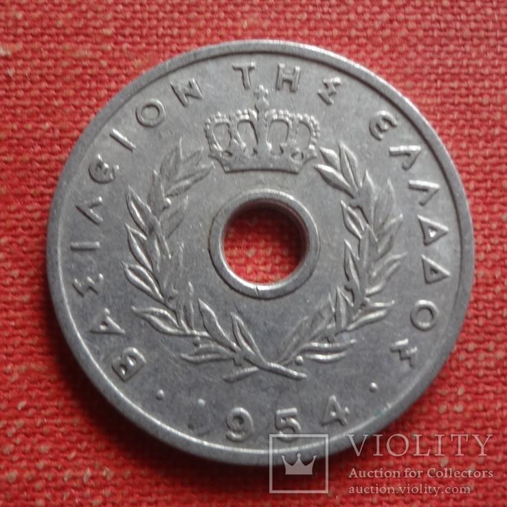 10 лепта 1954 Греция       (Т.10.12)~, фото №3