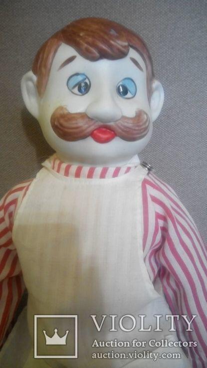Фарфоровая кукла Повар 50см реплика Германия Франция, фото №2