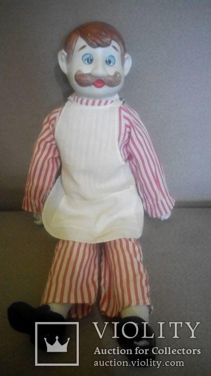 Фарфоровая кукла Повар 50см реплика Германия Франция, фото №4