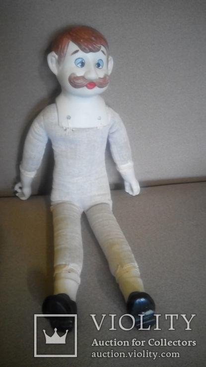 Фарфоровая кукла Повар 50см реплика Германия Франция, фото №6