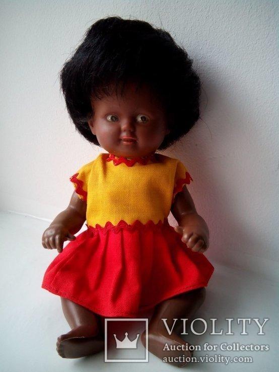 Кукла негритянка черепашка Schildkrot 18см ГДР