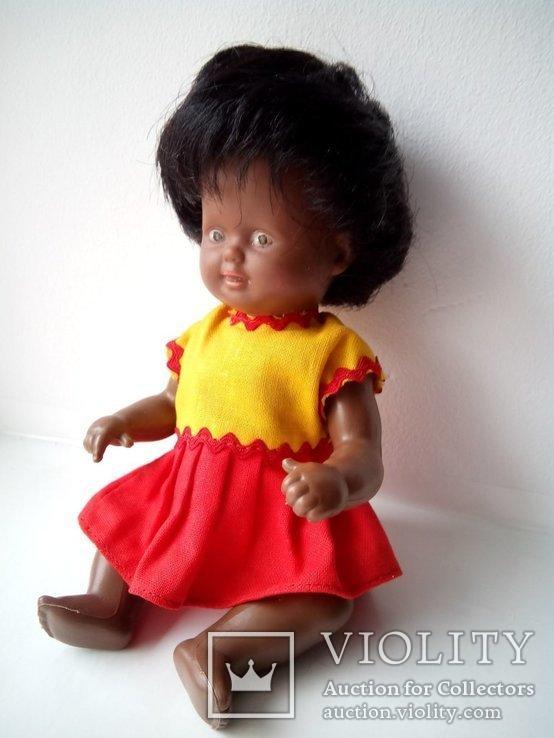 Кукла негритянка черепашка Schildkrot 18см ГДР, фото №7