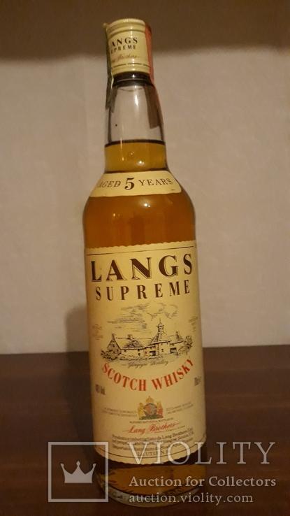 Whisky Langs Supreme 1980-90p Scotland
