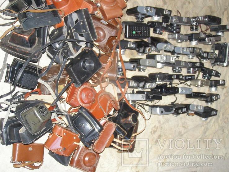 Фотоаппараты разные 41 шт. + разные кофры., фото №9
