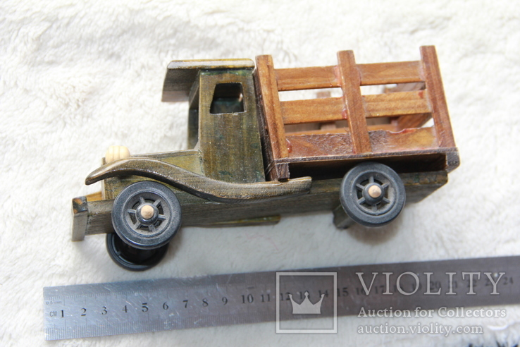 Машина. Грузовик с натур. дерева. СССР., фото №2