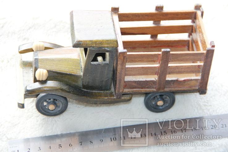 Машина. Грузовик с натур. дерева. СССР., фото №4