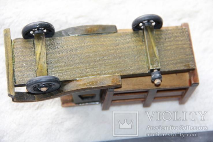 Машина. Грузовик с натур. дерева. СССР., фото №5