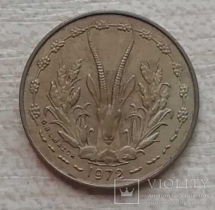 Западная Африка (BCEAO) 5 франков, 1972 г., фото №2