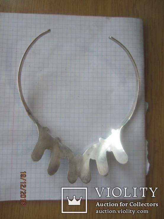 Колье серебро 925 халиотис ручная работа, фото №7