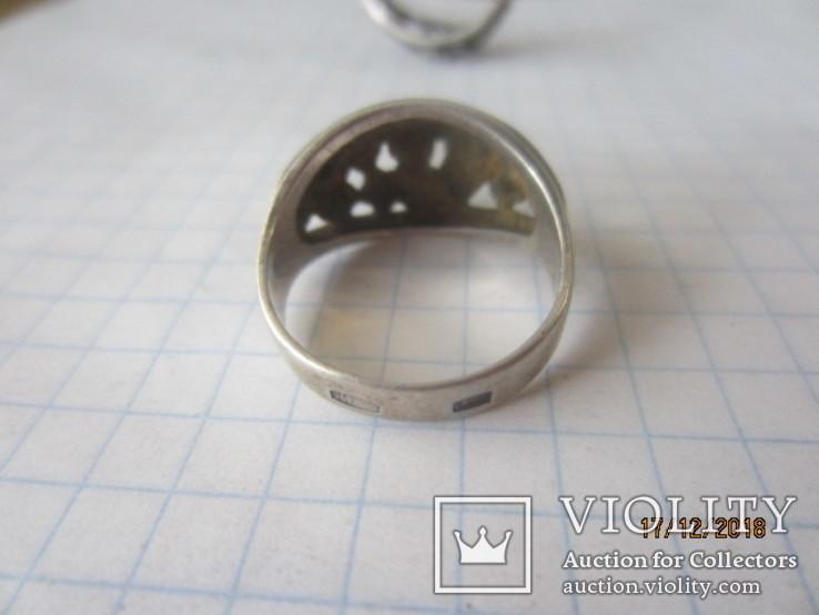 Кольцо и серьги серебро 875 звезда cccp, фото №11