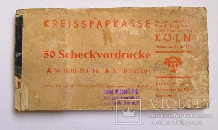 Немецкая чековая книжка 40-е гг.