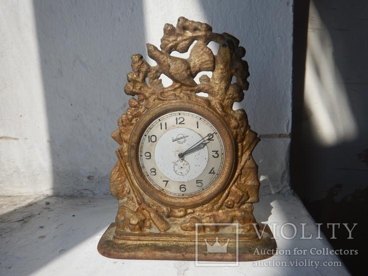 Часы Охота.Чугун Куса 1955г.