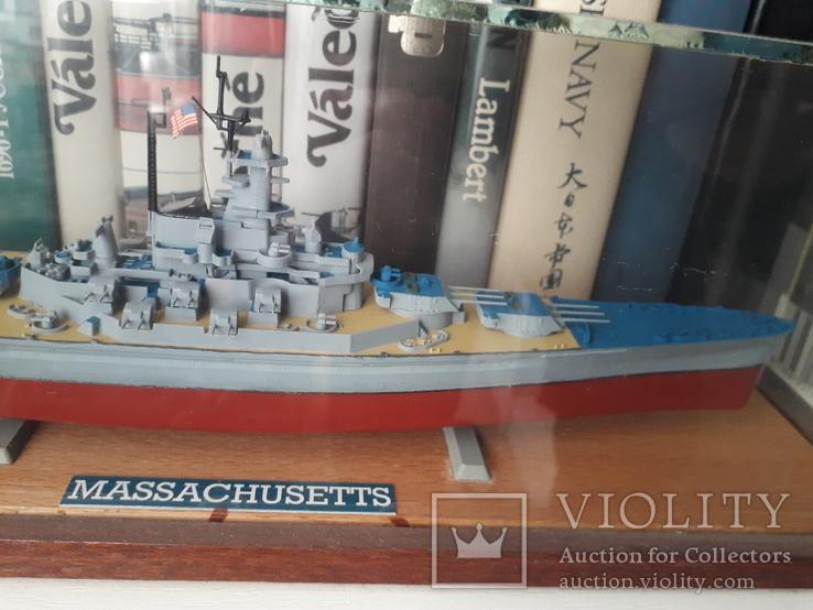 """Линкор USS """"Массачусетс"""" 1:720 (Revell) + футляр, фото №2"""
