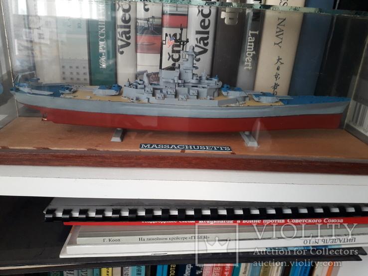 """Линкор USS """"Массачусетс"""" 1:720 (Revell) + футляр, фото №3"""