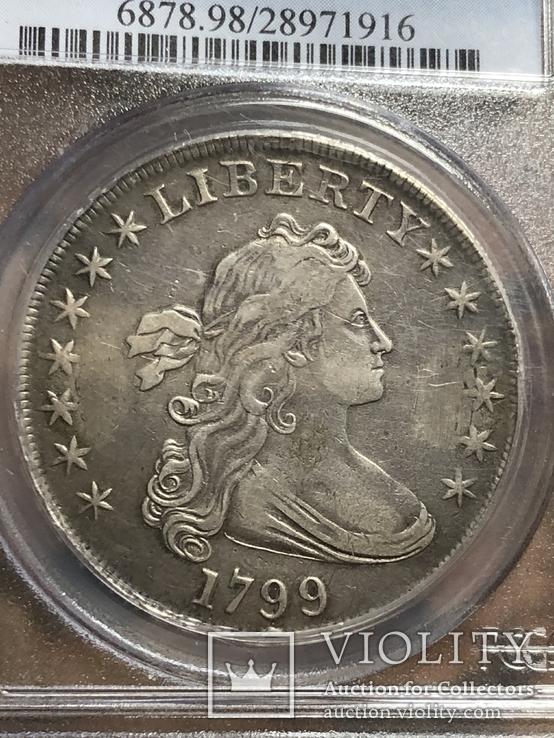 1$ США 1799г, фото №2