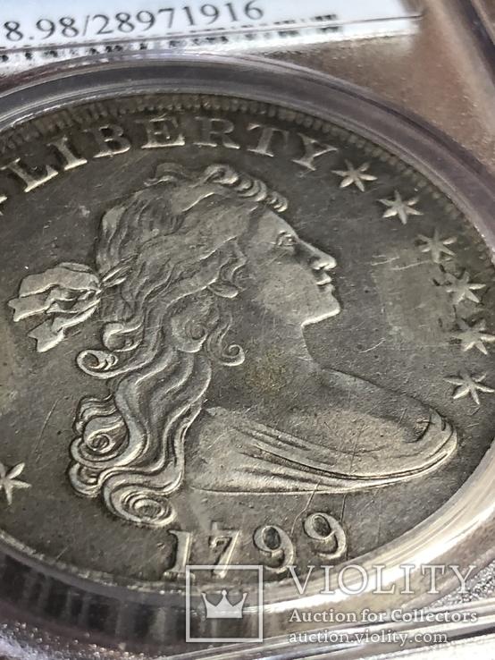 1$ США 1799г, фото №4