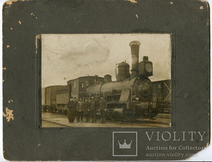На вокзале г. Ромны. Паровоз. 1913 год.