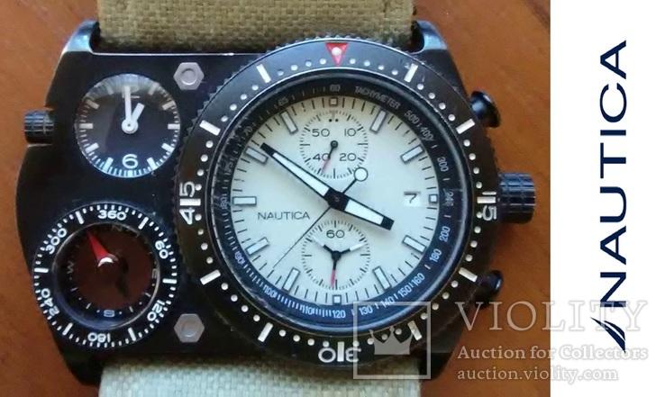 Часы хронограф NAUTICA (США) модель N-MX 62 под восстановление, фото №2