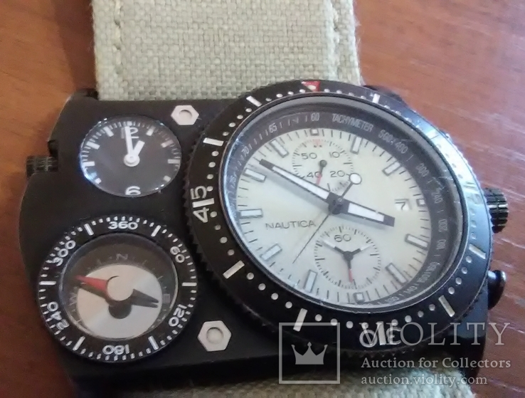 Часы хронограф NAUTICA (США) модель N-MX 62 под восстановление, фото №3