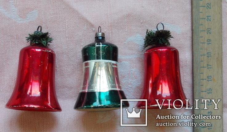 Три колокольчика производства ГДР. 60 - е годы., фото №2