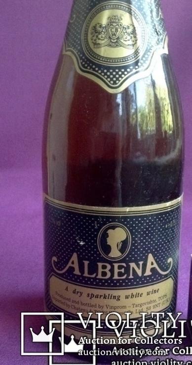 Вино ALBENA. A dry sparkling white wine. Производитель - UK., фото №3