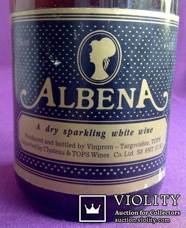Вино ALBENA. A dry sparkling white wine. Производитель - UK., фото №4