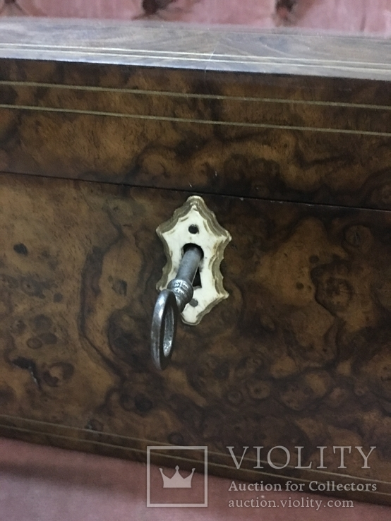 Большая шкатулка из карельской берёзы, царизм, фото №3
