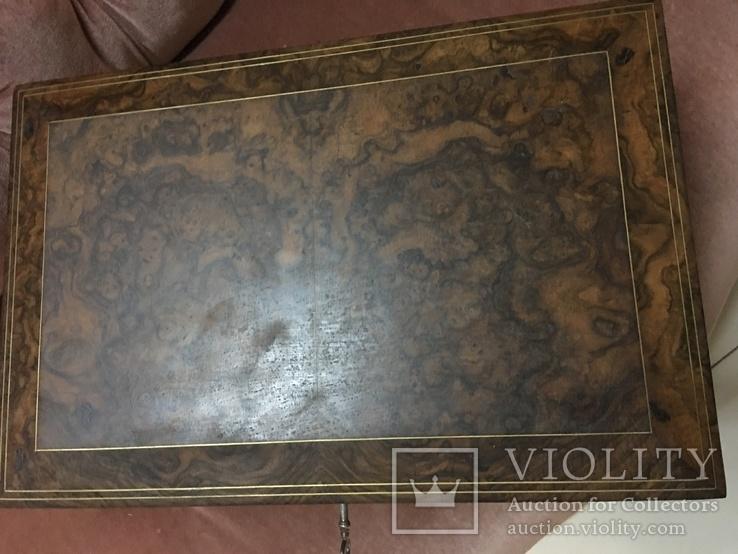 Большая шкатулка из карельской берёзы, царизм, фото №4