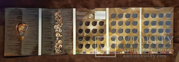 Капсульный альбом для монет серии «Изобретения Америки» в футляре, фото №3