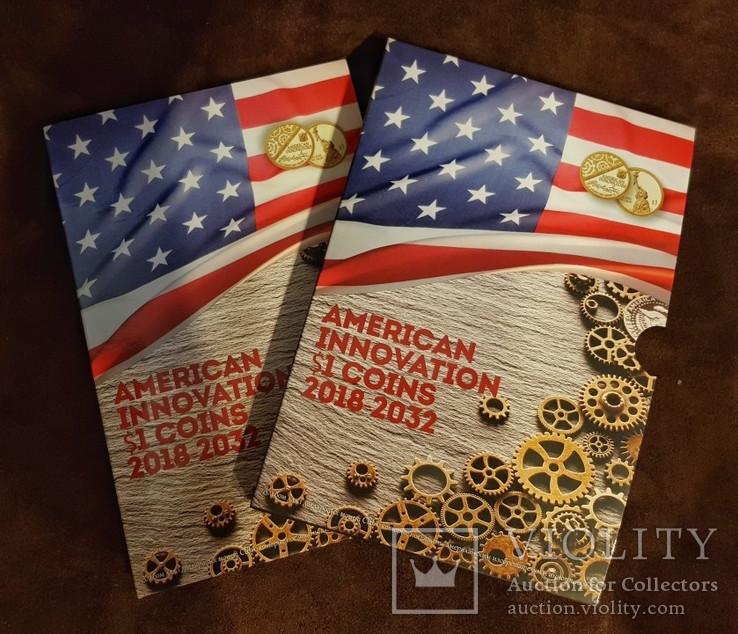 Капсульный альбом для монет серии «Изобретения Америки» в футляре, фото №2