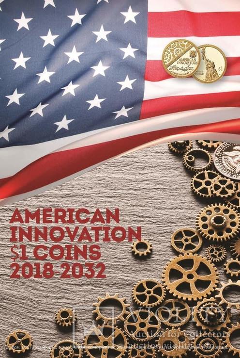 Капсульный альбом для монет серии «Изобретения Америки» в футляре, фото №4