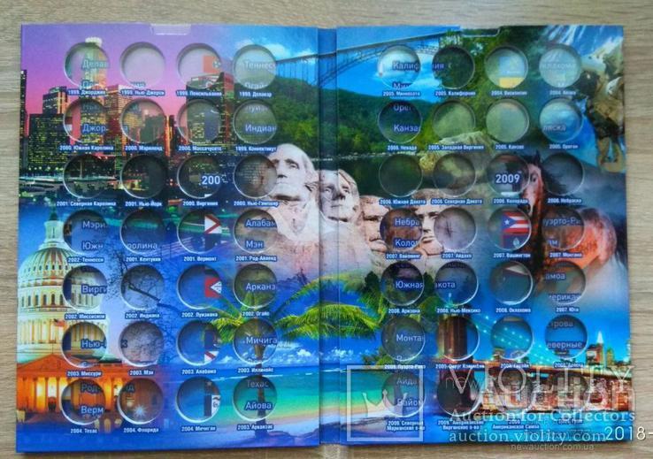 """Альбом для монет """"Штаты и территории США""""для 25 центов КАПСУЛЬНОГО ТИПА, фото №3"""
